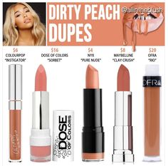 Kylie's new shade Dirty Peach  dupes