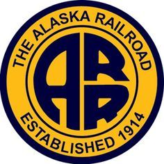 Alaska Railroad 1914 - Present Train Posters, Railway Posters, Alaskan Railroad, Train Drawing, System Map, Outdoor Logos, Railroad Pictures, Railroad Photography, Train Art