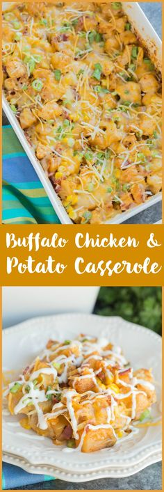 This flavorful Buffalo Chicken and Potato Casserole comes together easily and is always a family favorite dinner recipe!