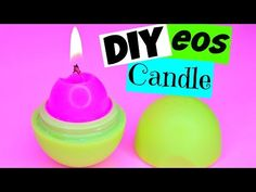 DIY EOS CANDLE! How to Make EOS Candles! - YouTube