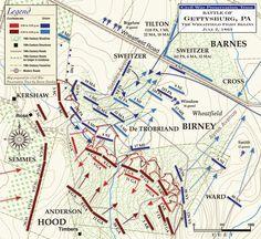 Battle of Gettysburg: The Wheatfield Fight Begins July 2, 1863