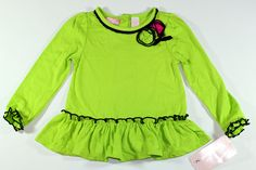 Kids Headquarters Girls Green Rose  Dress Sweater Outfit Shirt Top 3T NEW SALE #KidsHeadquarters #Everyday