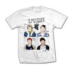 d33edf18d6d 5SOS  Scribble Photo T-Shirt