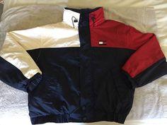 Tommy Hilfiger Vintage Men's Jacket - Fleece Lined - Big Logo - Size Large #TommyHilfiger #BasicJacket