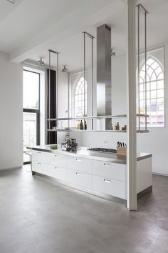 Very high quality kitchen space. Definitely grabs the attention.