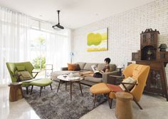 Texture and colour add retro character to this terrace house | Lookbox Living