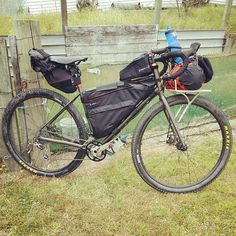 Only thing that's missing are mud guards? Cargo Bike, Fat Bike, Touring Bike, Outdoor Fun, Rigs, Mountain Biking, Bike Packing, Cycling, Packing Ideas