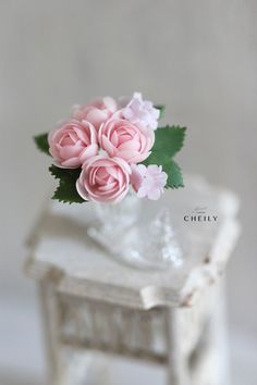 Dollhouse miniature flowers- Beauty of Wonder by CheilysMiniature on Etsy