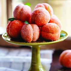"""For a fanciful holiday dessert that's guaranteed to impress, try these beautiful but easy-to-make peach-shaped cakes from Rosetta Costantino's """"My Calabria"""" cookbook."""