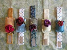 Pretty Posy Wrist Pincushion Pattern Only by quiltingacres on Etsy, $9.00