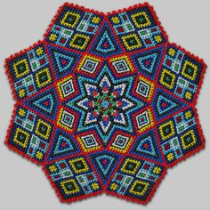Where in the Inuit mind do these designs come from? Doily Patterns, Beading Patterns, Cross Stitch Patterns, Pony Bead Projects, Thali Decoration Ideas, Bead Crochet Rope, Native American Beading, Needlepoint Kits, Pony Beads