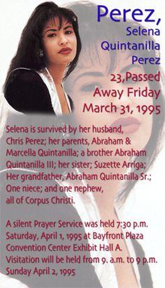 El artículo es de el  triste muerte de Selena