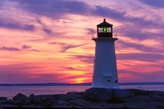 Lighthouse at Nova Scotia, Canada