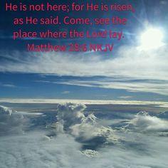 He is risen ....