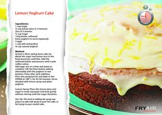 Cake Tins, Fries, Recipies, Oven, Lemon, Cooking, Ethnic Recipes, Food, Recipes