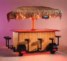 Tiki Bar on wheels? Mobile Bar, Coffee Shop Design, Cafe Design, Foodtrucks Ideas, Bar On Wheels, Outdoor Tiki Bar, Food Kiosk, Portable Bar, Tailgate Food