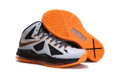 2013 Nike Lebron X 10 Mens Sneakers Shoes New Cheap Silver Black ...