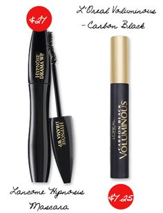Splurge vs. Steal: Makeup You Have to Have | Daily Makeover - Lancôme Hypnosis Mascara ($27, lancome-usa.com) gives you voluminous lashes, but so does L'Oréal Voluminous Carbon Black ($7.25, lorealparisusa.com).
