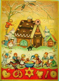 Advent calendars, Gingerbread House.