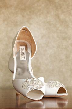 Badgley Mischka Classic Ivory Wedding Shoes | Kenzie Shores Photography https://www.theknot.com/marketplace/kenzie-shores-photography-pinellas-park-fl-645119 | Days Remembered By ND https://www.theknot.com/marketplace/days-remembered-by-nd-new-port-richey-fl-634695 | Badgley Mischka
