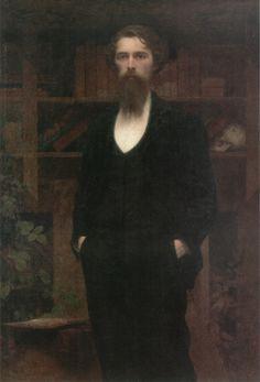 Self Portrait, (1899) Giuseppe Pellizza da Volpedo (Italian, 1858-1907).