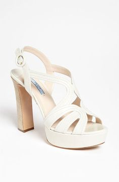 Gorgeous: White Prada sandals.