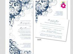 Convite de casamento com gravuras