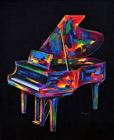 Piano Rhaposdy by John Salozzo on ARTwanted Music Painting, Music Artwork, Cool Artwork, Music Pics, Amazing Artwork, Acrylic Artwork, Acrylic Painting Canvas, Canvas Art, Musik Illustration
