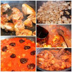 Este pollo con tomate está para chuparse los dedos... Receta paso a paso con fotografías de pollo con tomate, una receta de pollo irresistible. Cheesesteak, Shrimp, Ethnic Recipes, Desserts, Food, Recipes With Chicken, Sauces, Fingers, Essen