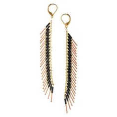 Quill Earrings Copper, $73, now featured on Fab.