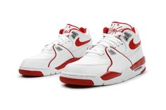 Nike Air Flight '89 'White/Varsity Red-Wolf Grey'