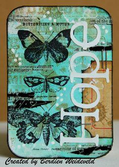 Scrap from Bemmel: Little cards 5 : Hope