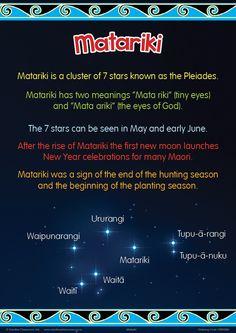 Matariki Chart | Maori Posters