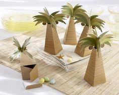 Boite à dragée palmier