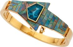 Estate Jewelry:Bracelets, Tourmaline, Opal, Gold Bracelet. ...
