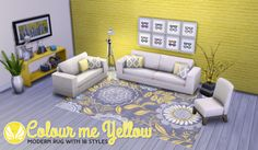 Colour Me Yellow Modern Rug SetToday I have another recolour for you. This time it is some rugs. I know, you all have probably seen a buttload of them, but not many were the size I wanted. I love the...
