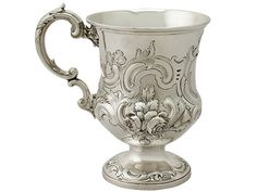 Sterling Silver Christening Mug - Antique Victorian SKU: A5264 Price: GBP £695.00 http://www.acsilver.co.uk/shop/pc/Sterling-Silver-Christening-Mug-Antique-Victorian-45p8803.htm