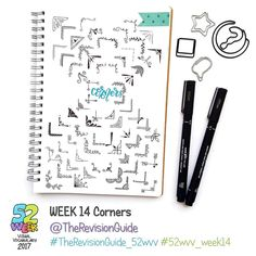 """220 gilla-markeringar, 1 kommentarer - Apsi's visual notes & doodles (@therevisionguide) på Instagram: """"Week 14 of the 52 week visual vocabulary challenge is all about Frames and Labels... Draw as many…"""""""