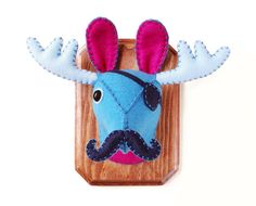 Captain MooseStachio  Faux Taxidermy Eye Patch and by AICreatures, $85.00