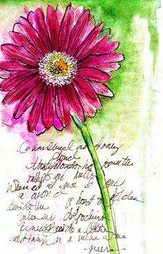 Alisa Burke — gerber study 8x10 matted art print