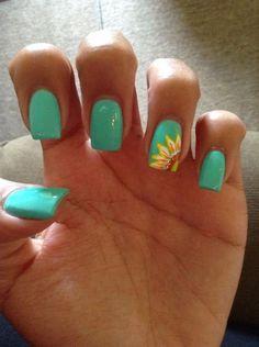 Beach Nail Designs, Short Nail Designs, Nail Designs Spring, Cool Nail Designs, Art Designs, Animal Nail Designs, Cute Summer Nails, Spring Nails, Cute Nails
