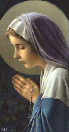 Holy Mary, mother of God, pray for us sinners now and at the hour of our death. Blessed Mother Mary, Divine Mother, Blessed Virgin Mary, Praying Hands With Rosary, Images Of Mary, Queen Of Heaven, Mama Mary, Religious Pictures, Holy Rosary
