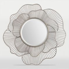 Ren-Wil Brocade Mirror - Antique Silver Leaf With the juxtaposition of soft rose petal forms and a wire construction makes this mirror as versatile as it is stylish. Made from Metal and MDF with an antique silver leaf Finish. Wall Mirrors Metal, Wall Mounted Mirror, Mirrors Silver, Decorative Mirrors, Argent Antique, Antique Silver, Antique Jewelry, Deco Luminaire, Circular Mirror