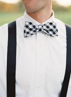 Gingham Bow tie, Photo by Brett Heidebrecht.
