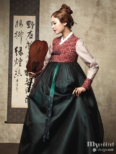 Hanbok: Beautiful traditional Korean clothing. #Hanbok #한복 #Korea