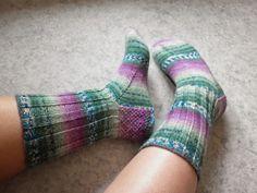 Socks for my granny :) Yarn: Opal Sweet'n spicy
