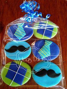 Bolsa de Galletas para Día del Padre Iced Sugar Cookies, Royal Icing Cookies, Cupcake Cookies, Fathers Day Cupcakes, Fathers Day Cake, Cookies Decorados, Horse Cookies, Fancy Cookies, Edible Gifts
