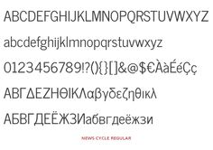news-cycle by n8, News Cycle is a realist sans-serif typeface based on specimens from ATF's 1908 News Gothic. The goal is to produce a practical, easy-to-read font suitable for journalistic use at multiple weights. News Cycle is currently available in regular weight, covering Unicode Latin-1, Latin Extended A, Latin Extended B, Greek, and Cyrillic., on Open Font Library
