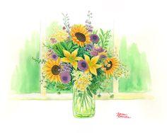 Jean Okada: Vaso com flores