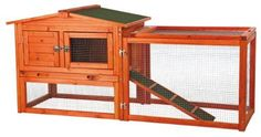 Rabbit Hutch Coop Chicken House Hen Box Nesting Wooden Cage Pet Run Backyard New #TRIXIEPetProducts